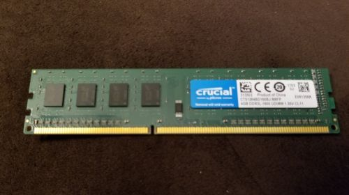 Crucial 4gb Ddr3l 1600 Udimm Ram Fast Easy To Install