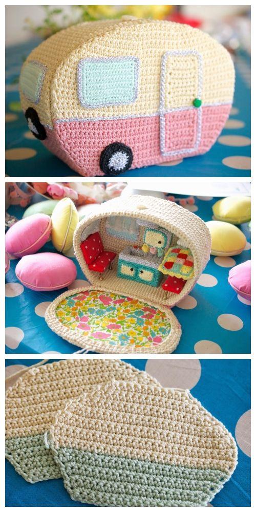 Crochet Mini Vintage Caravan Free Pattern   – Gifts