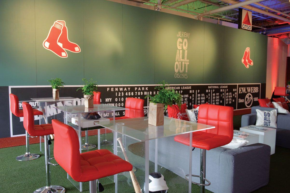 Boston Red Sox Baseball Themed Bar Mitzvah at The Stave