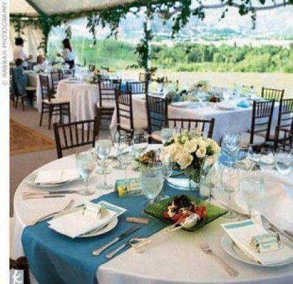 blue wedding table theme