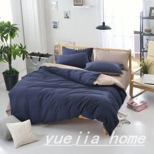 3pcs Solid Color Duvet Cover Set Pillowcase Comforter Cover Bedding Set  Modern Design American Style Twin