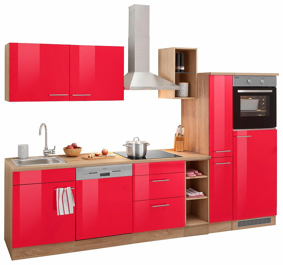 Optifit Küchenzeile »Kalmar« mit EGeräten, Breite 300 cm