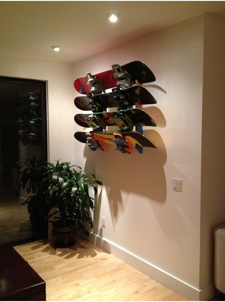 Snowboard Rack Slotted Wall Mount Skurf Pinterest