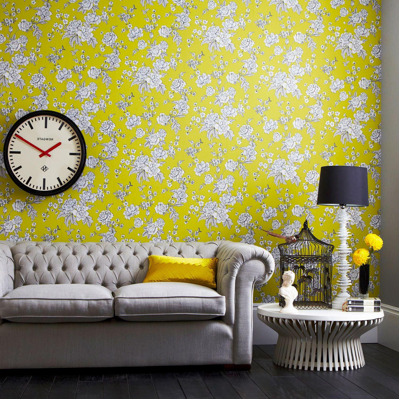 Graham & Brown Superfresco Easy Kensington Chartreuse Wallpaper ...