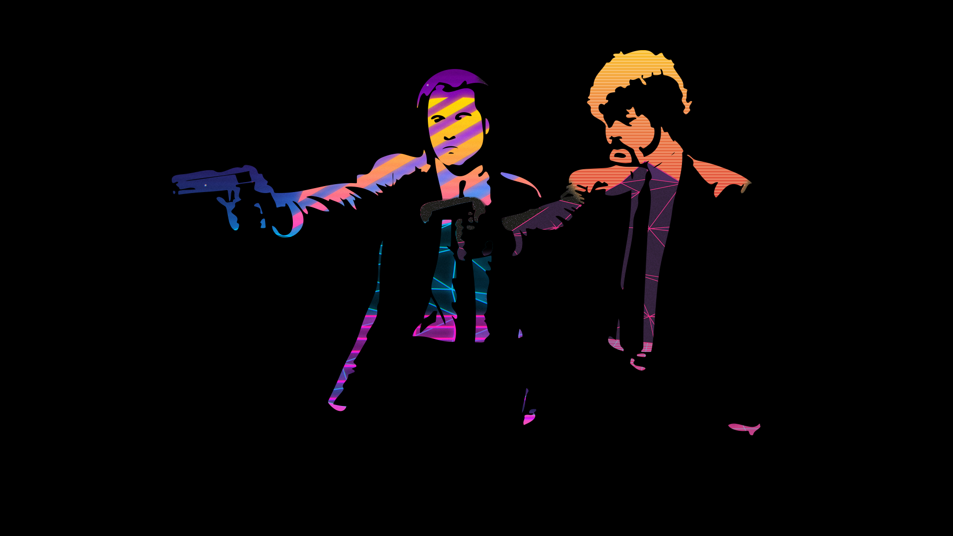 Pulp Fiction Neon Wave [1920 x 1080] in 2020 Pulp