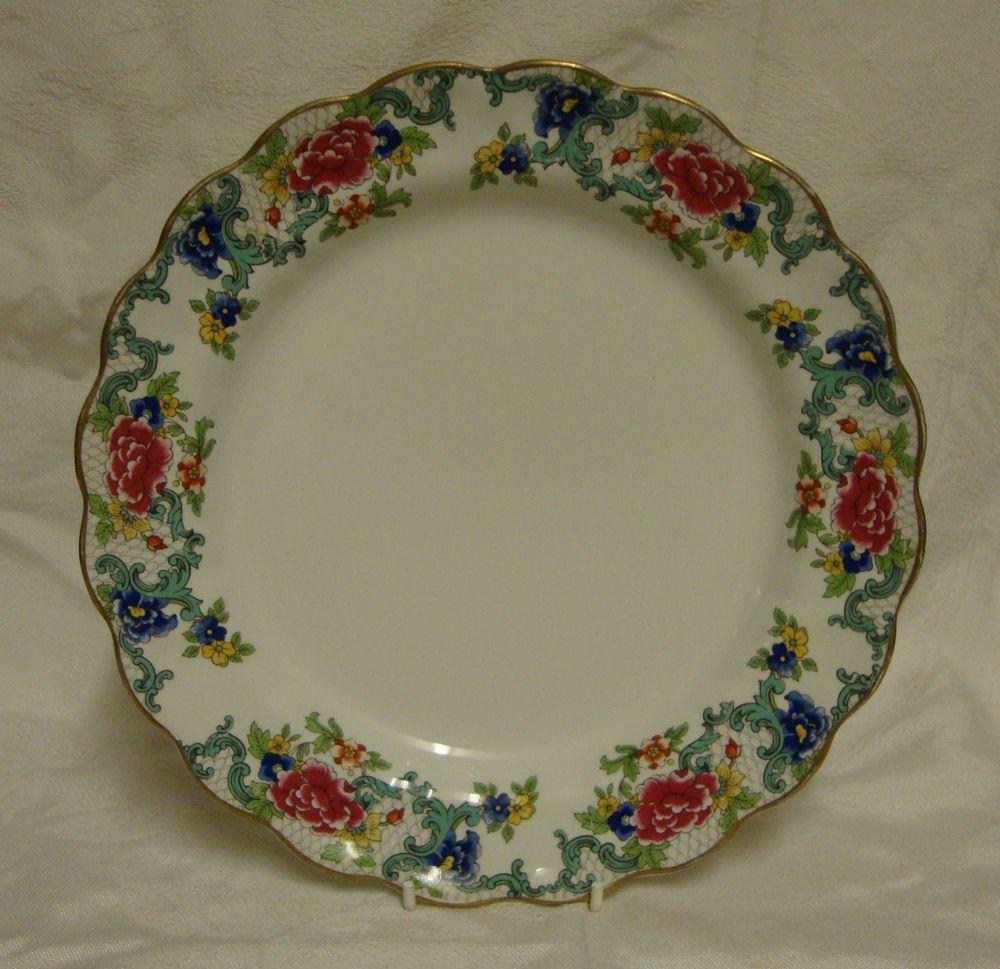 & Booths - \u0027Floradora\u0027 - A8042 - Lunch / Dinner Plate (25cm)
