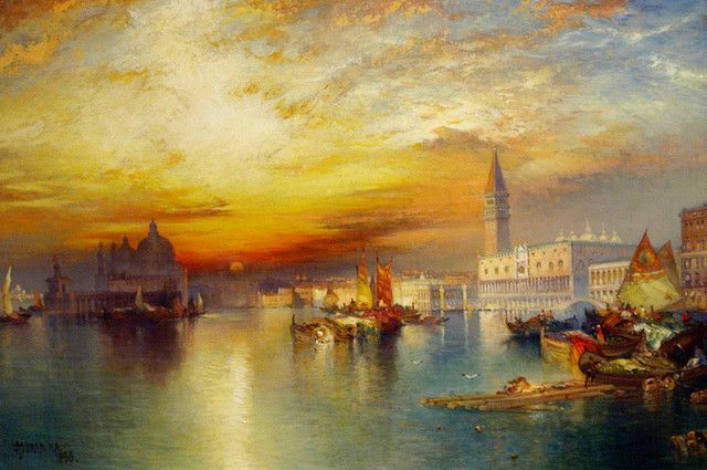 Grand Canal Venice Thomas Moran William Turner Landscape Art