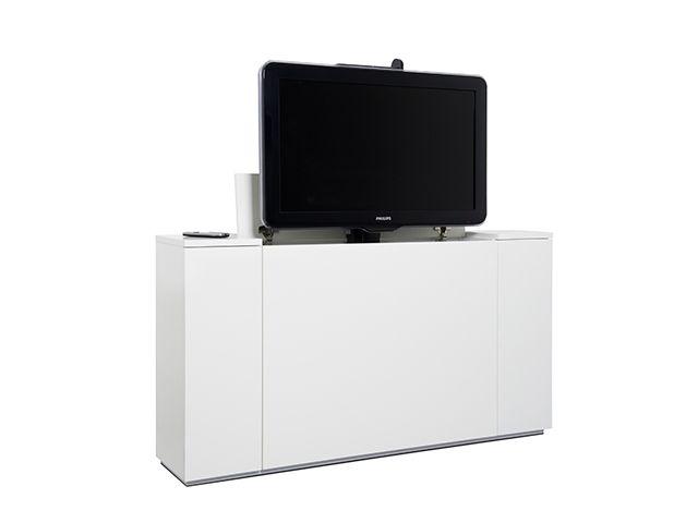 Tv Lift Kast : Tv kast op maat met tv lift systeem st675 van screentech 2 deuren in