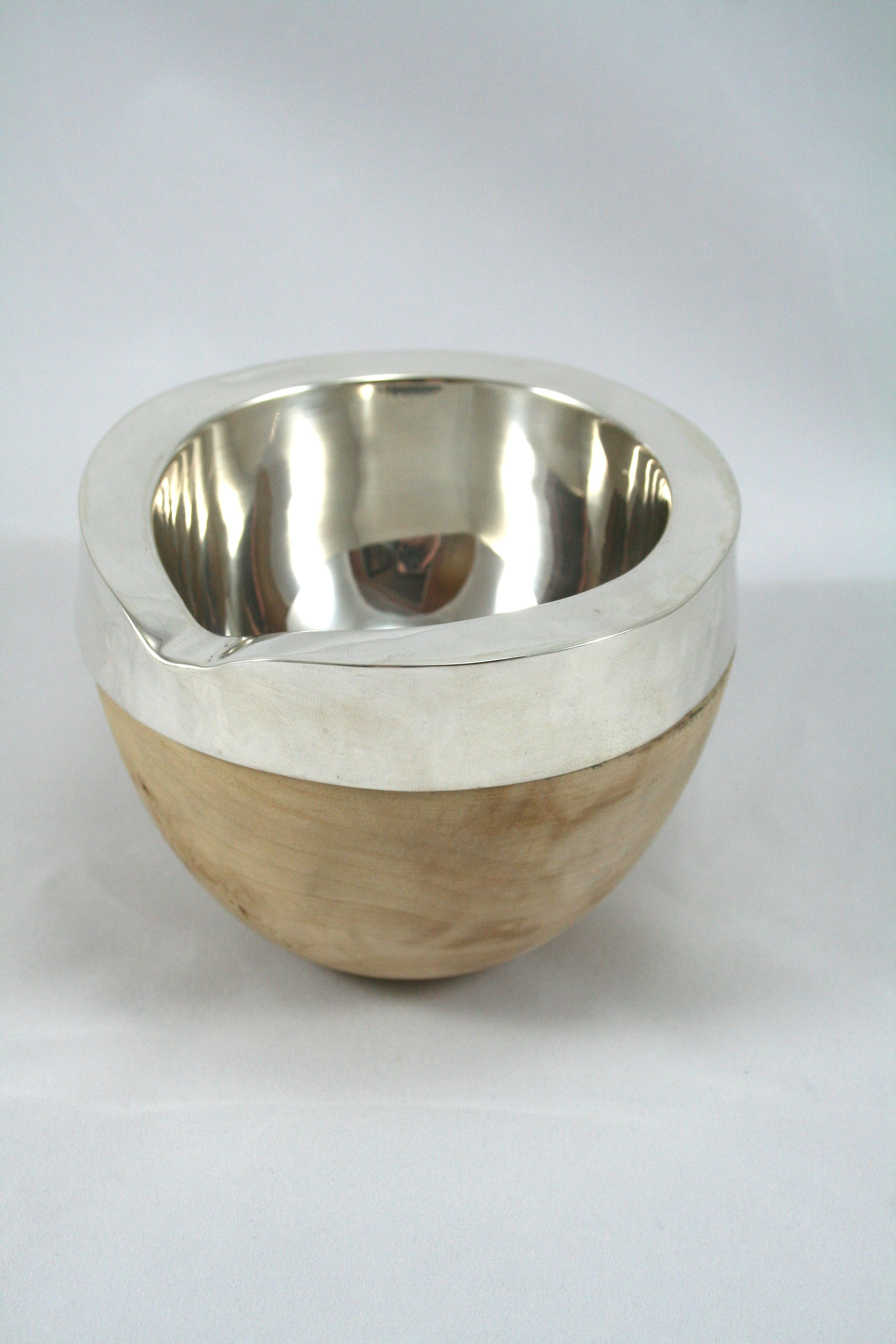 Conker And Sterling Silver Milk Jug Handmade By Gill