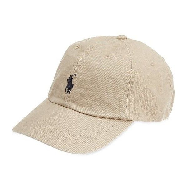 c8889fa3021 Polo Ralph Lauren Baseball Cap Hat (Beige)  Amazon.co.uk  Clothing ( 39) ❤  liked on Polyvore featuring accessories
