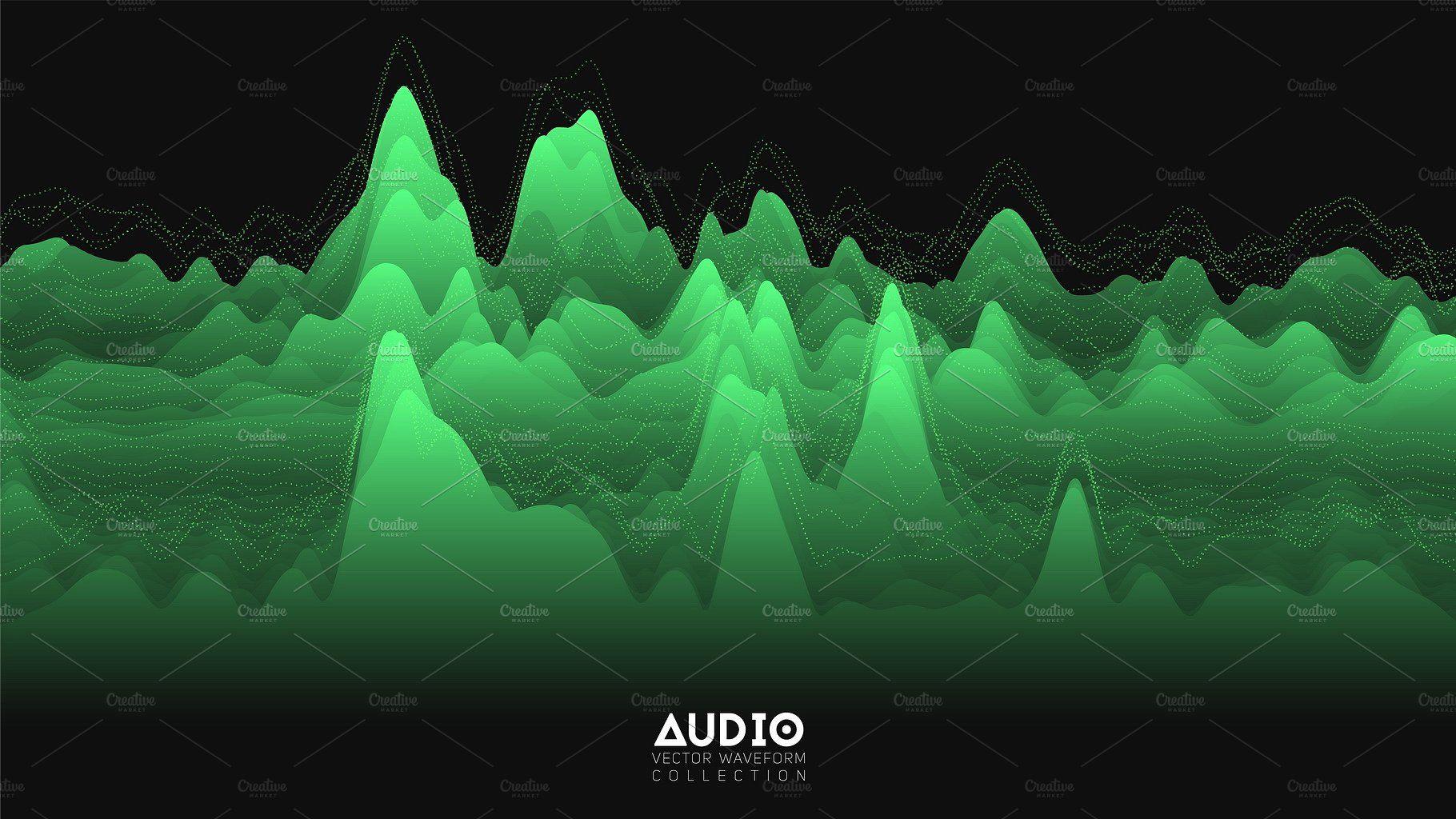 18 Audio Waveforms #wave#visualization#sound#oscillation | Creative