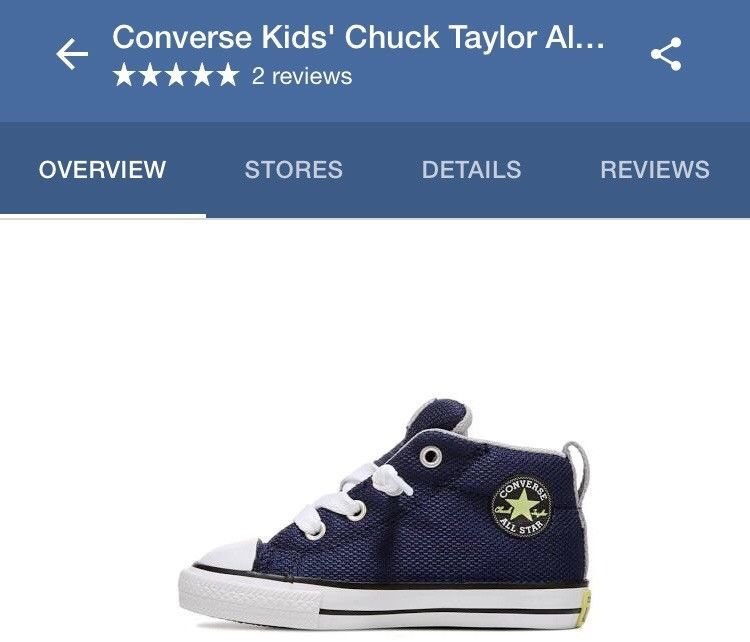 Converse Toddler Boys/' CT AS Street Mid Top Navy//Grey//White Sneakers-Asst Sz NWB