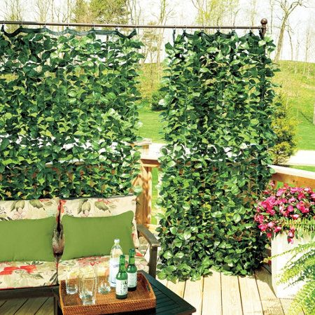 Faux Ivy Privacy Curtain