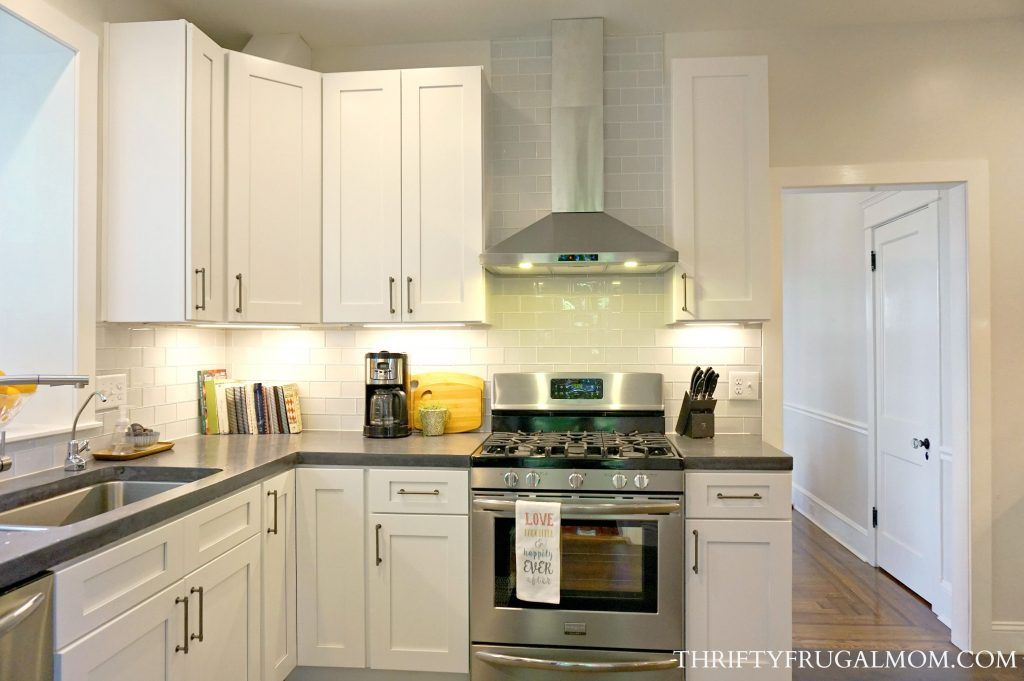 budget friendly classic white kitchen remodel all the