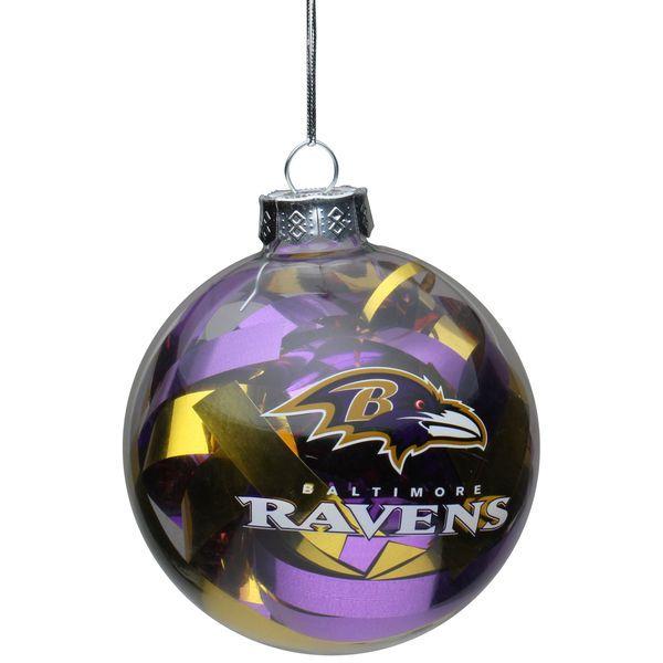 Baltimore Ravens Large Tinsel Ball Ornament - $7.99 - Baltimore Ravens Large Tinsel Ball Ornament - $7.99 Ravens