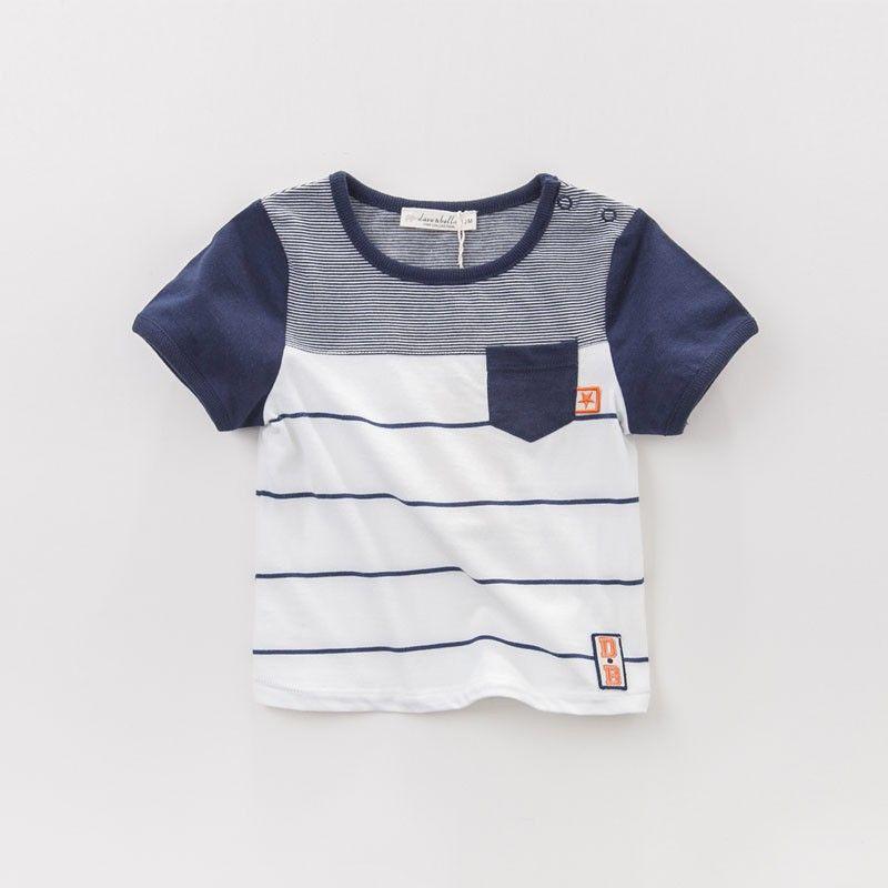 866723249 DB3064 dave bella summer boys shirts boutique outfits children's clothes  girls T-shirt child cotton blouse baby top stripe vest