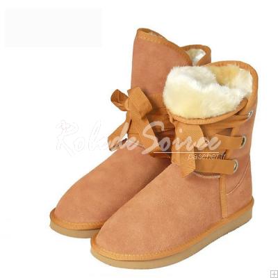 Bottes Fourrées-élégantes et raffinées classiques bottes de neige BGG-dans-tube