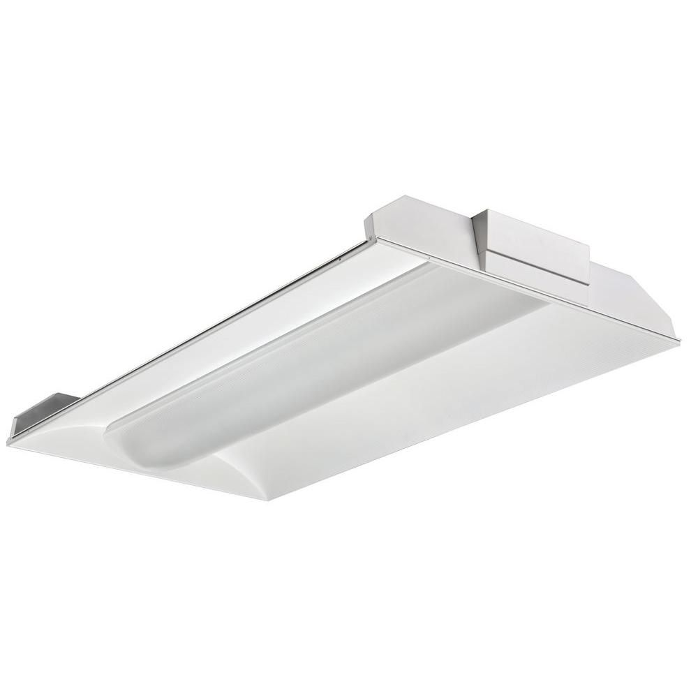 2-Light White Fluorescent Architectural Troffer | Products