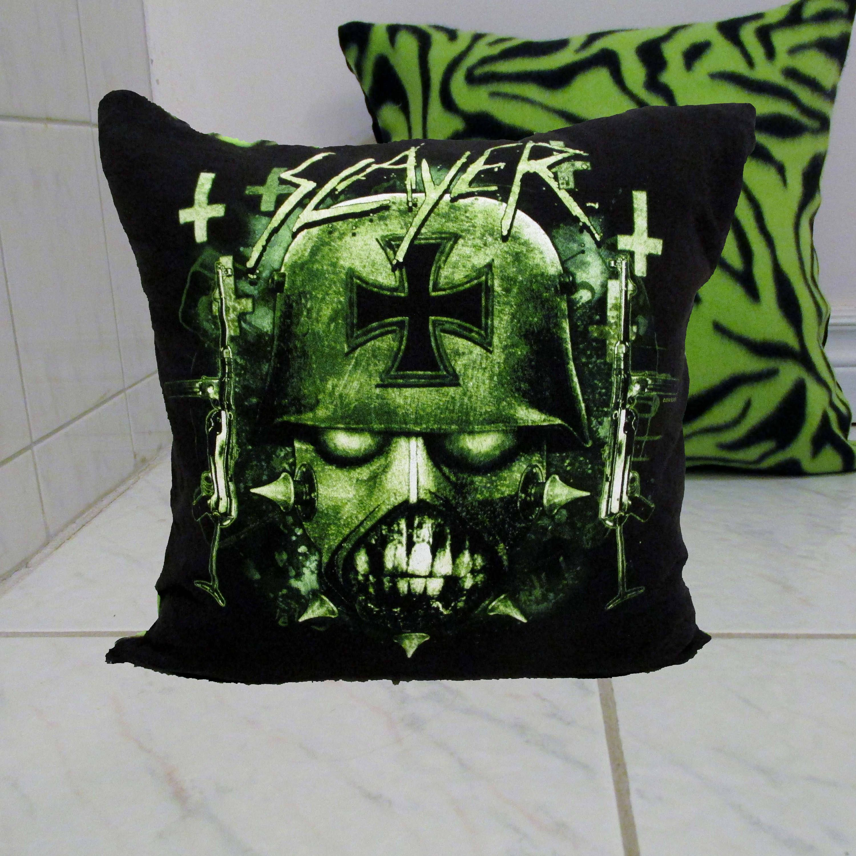 Slayer Pillow Diy Heavy Metal Decor 1 Cover Or Full By Darkstormdesign On