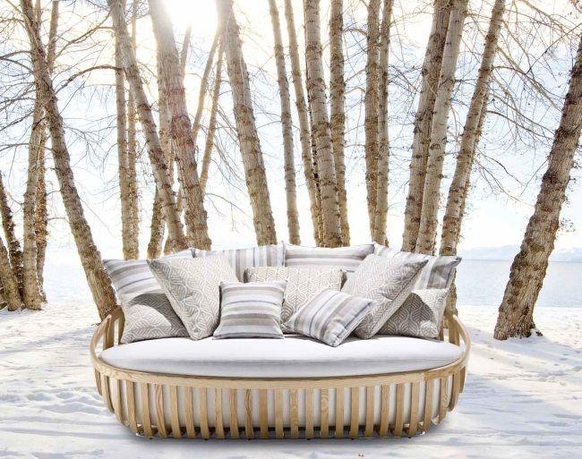 garten möbel designs lounge bett holz gestell Schönhuber Franchi - brillantes mobeldesign von smania