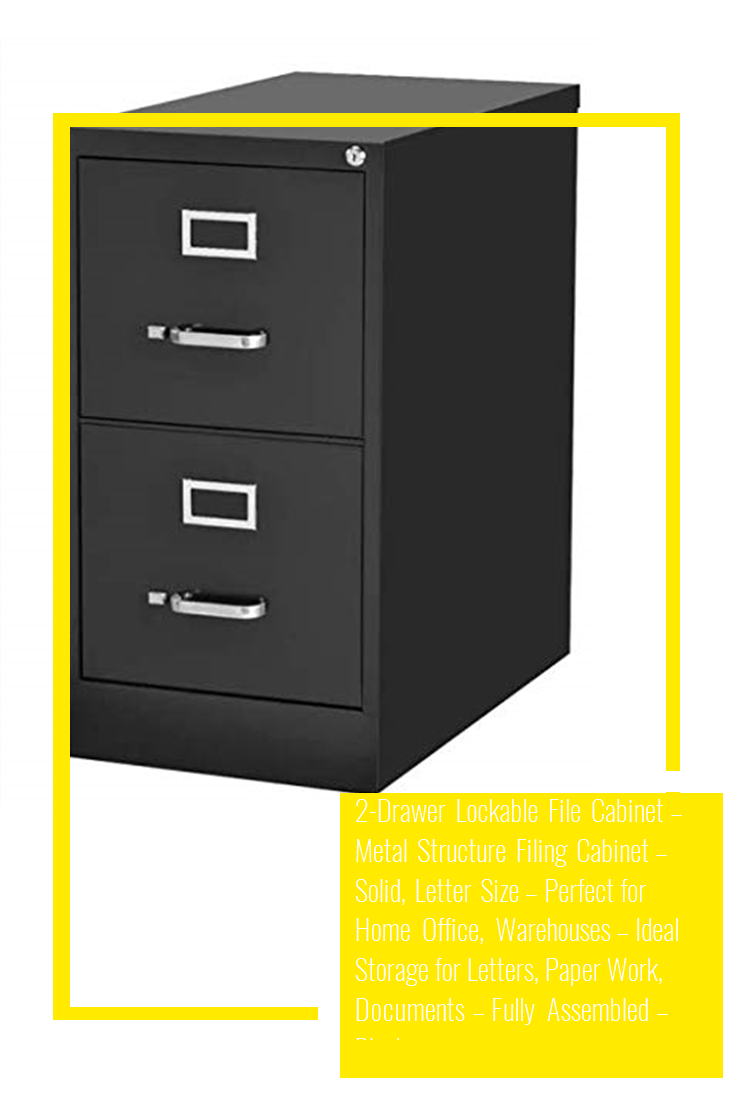 2 Drawer Lockable File Cabinet Metal Structure Filing Cabinet Solid Letter Size Perfect For Home Office Warehouses Ideal Storage For Letters Paper Wo