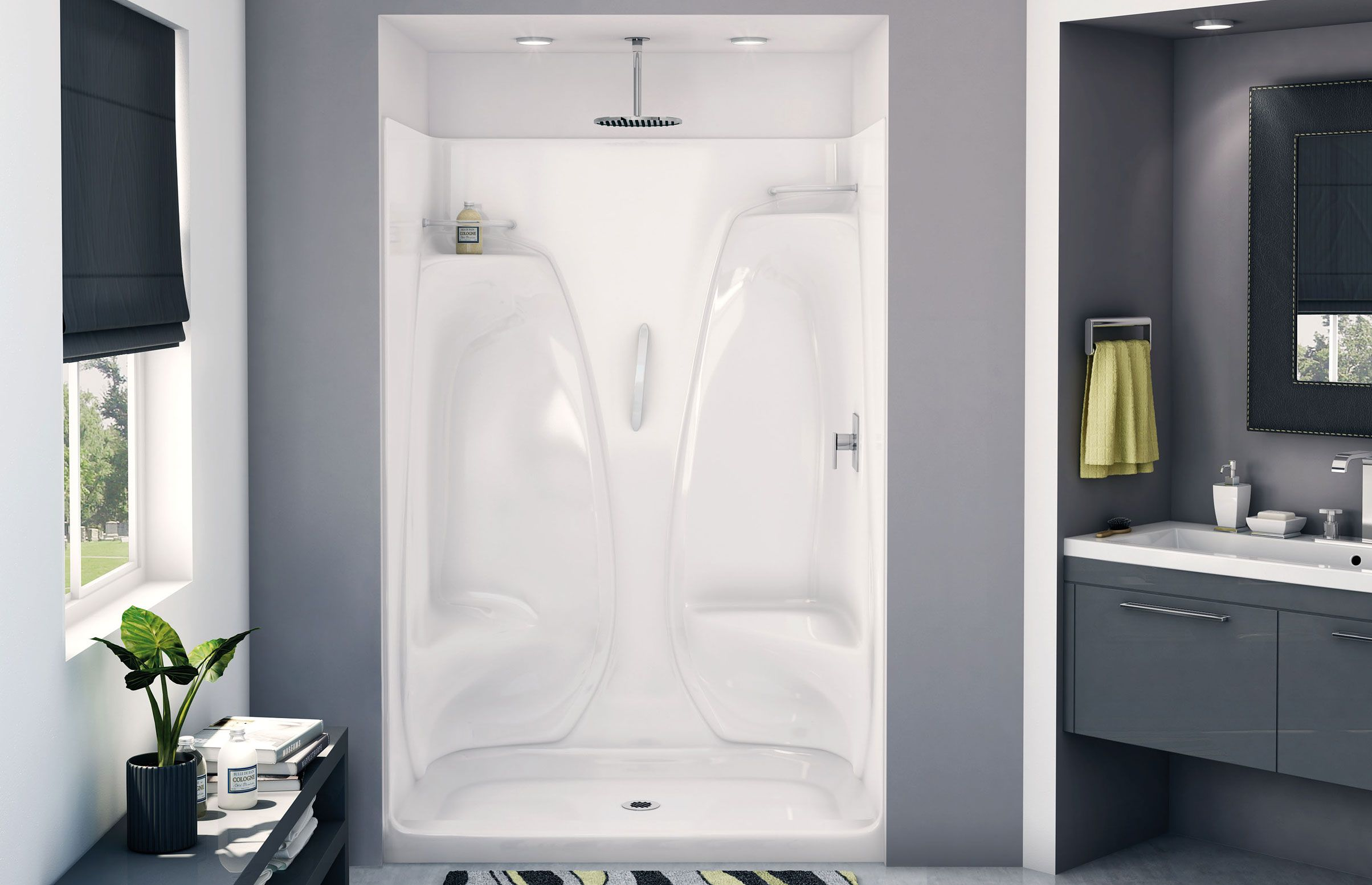 ACSH/RS/LS/NS Alcove shower - Aker by MAAX | Bathroom | Pinterest ...