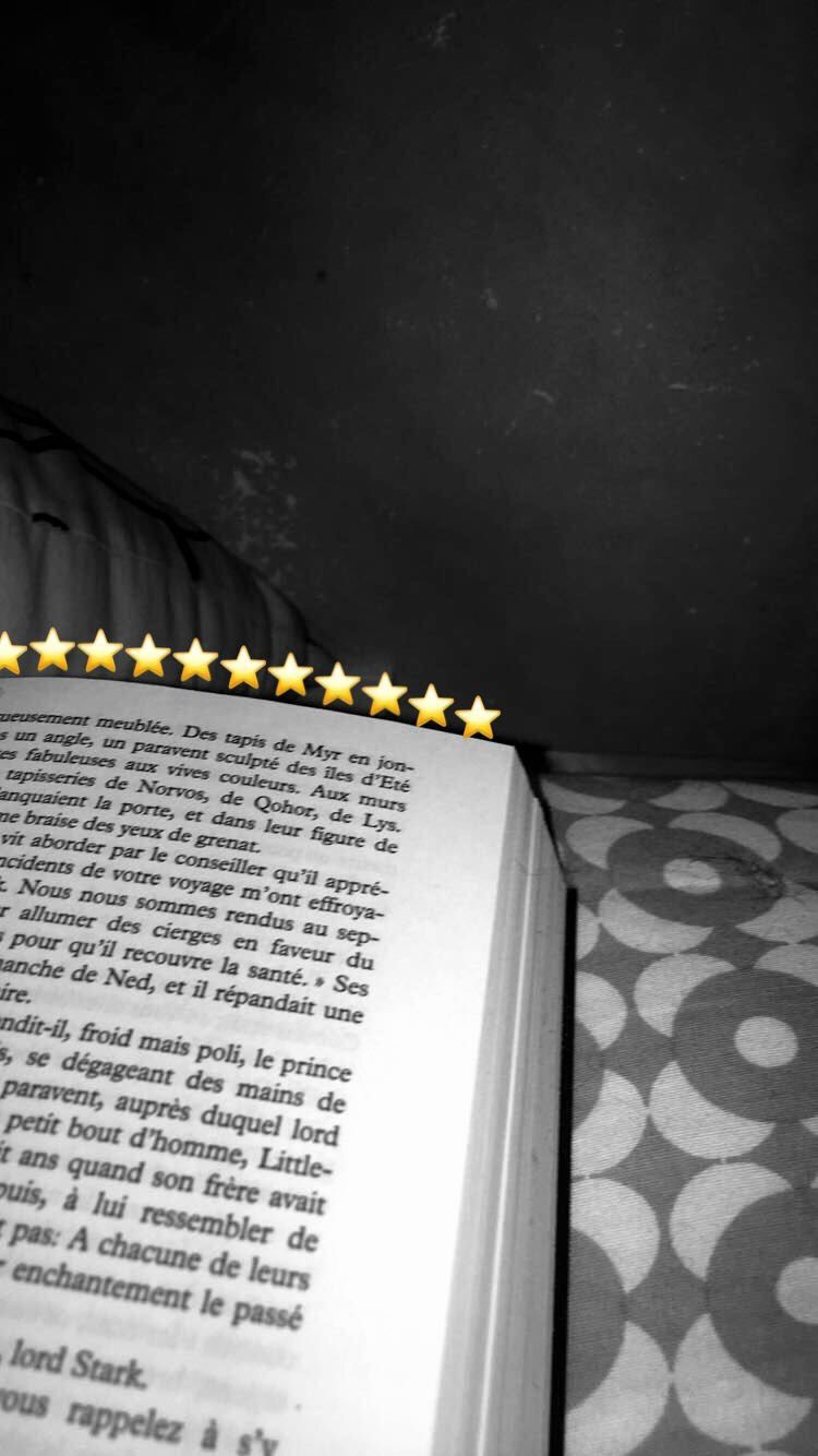 Snapchat Livre Reading Star Emoji Flamme Flamme