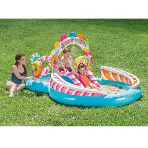 Intex Kids Inflatable Candy Zone Swim Kids Splash Pool With ...