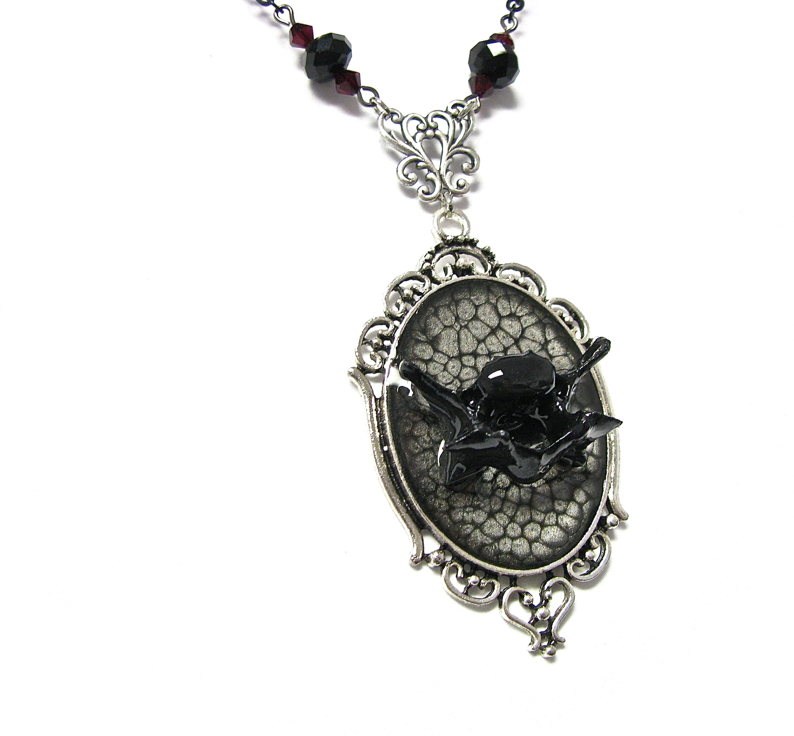 gothic bone macabre real pin necklace jewelry