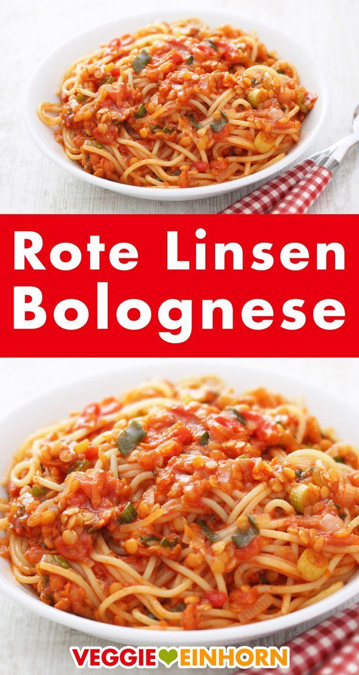 Photo of Vegane Bolognese mit roten Linsen ▶ Schnelles Feierabend Rezept ▶ Lecker und gesund ▶ Vegetarisch