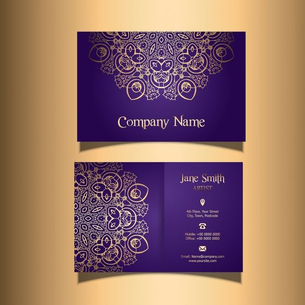 Download Business Card With A Stylish Design For Free Cartoes De