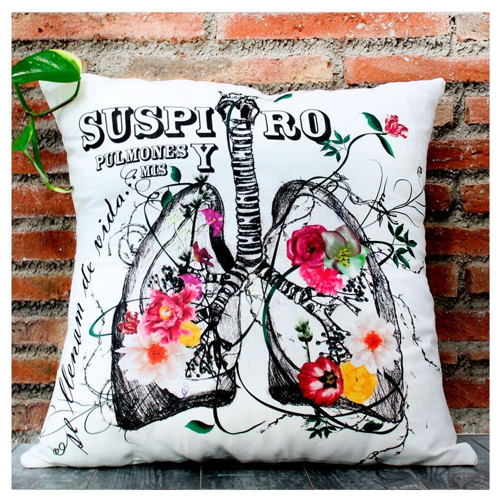 """#Cojines de diseño  #Cushions design #Decoración """"Suspiro y mis pulmones se llenan de vida..."""""""