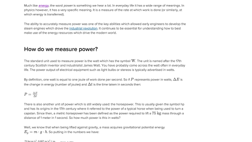 Learn What Power Means And How We Use It To Describe The Rate Of Energy Transfer In 2020 Kinetic And Potential Energy Potential Energy Physics Problems