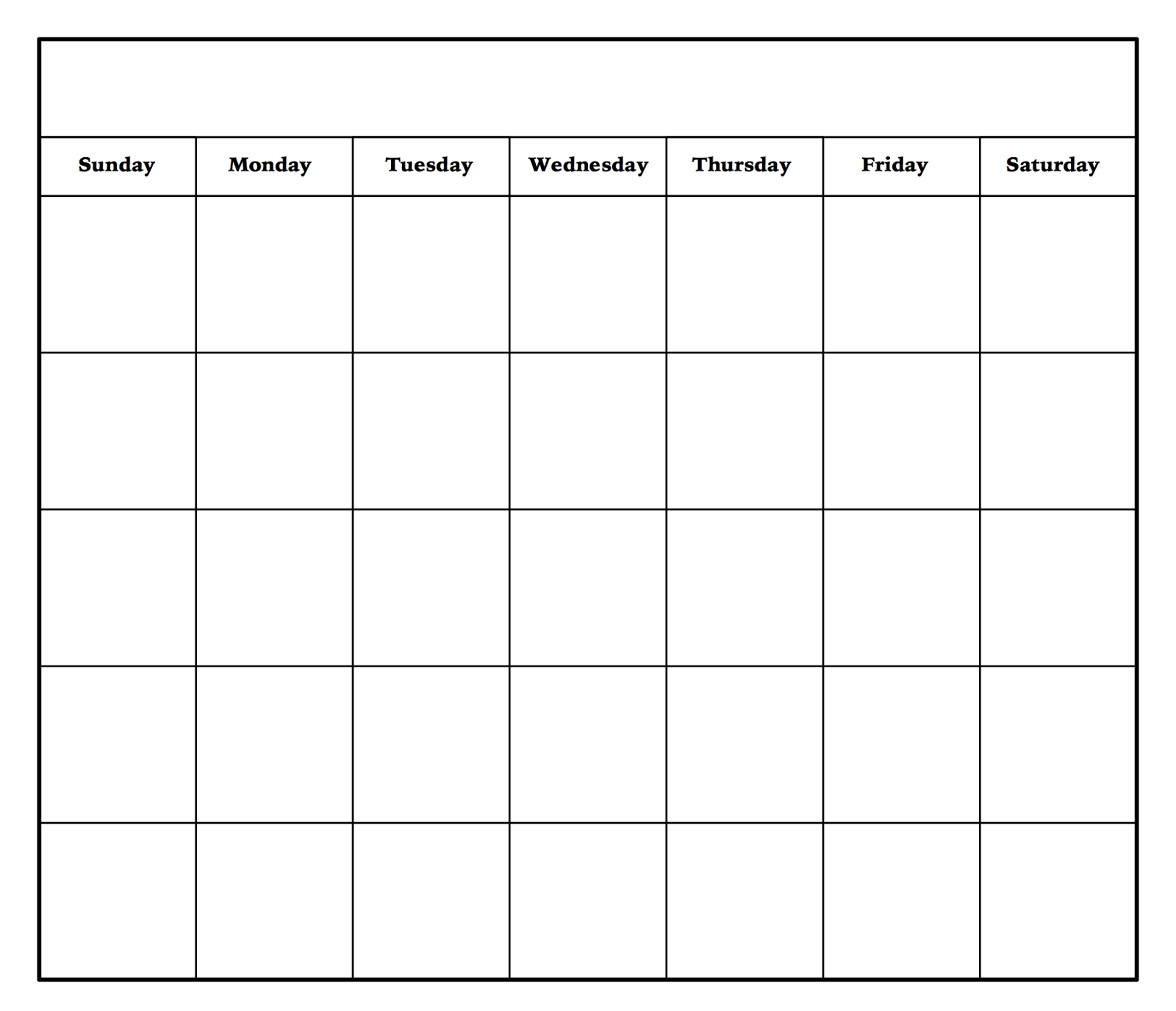 Monthly Calendar Template Excel Sheet