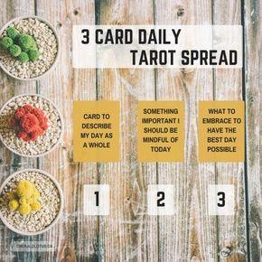 Tarot Spread - Simple Daily Spread | Taroot | Tarot spreads