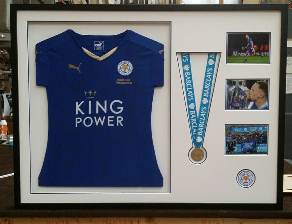 Danny Drinkwater Premier League winners medal and shirt framed by us ...