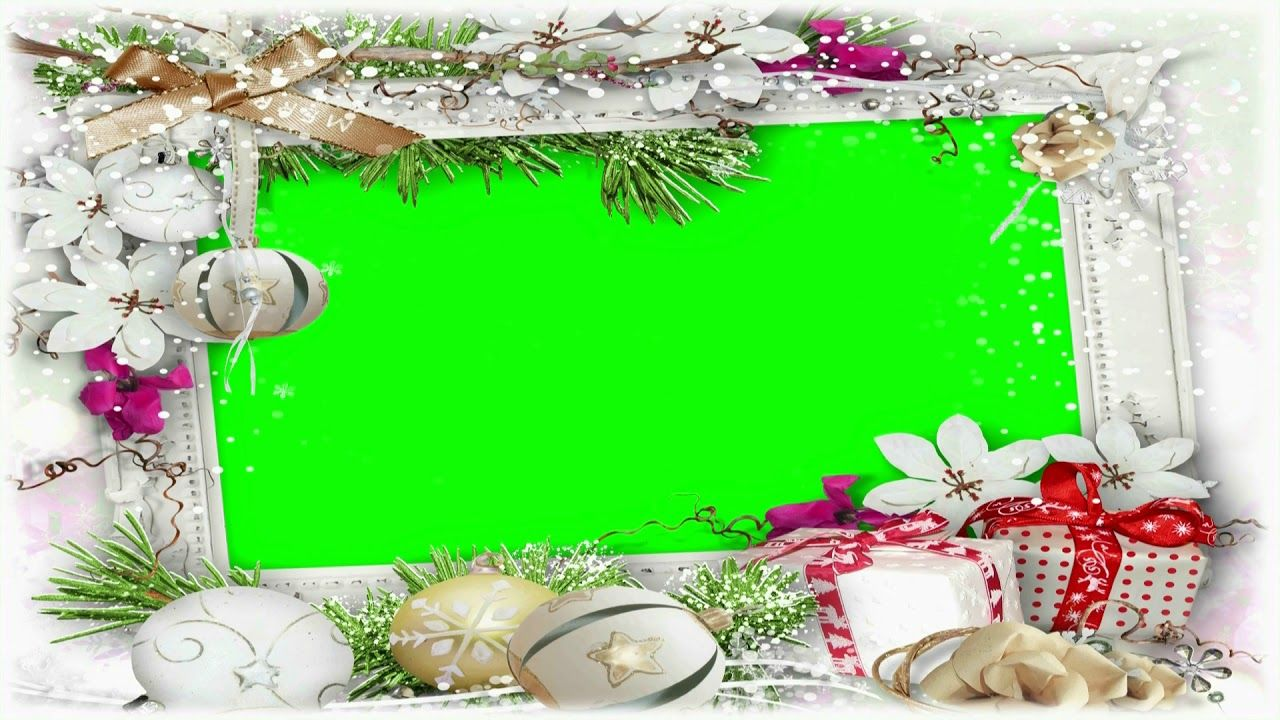 Wedding Video Background Green Screen Christmas Frame Chroma Key