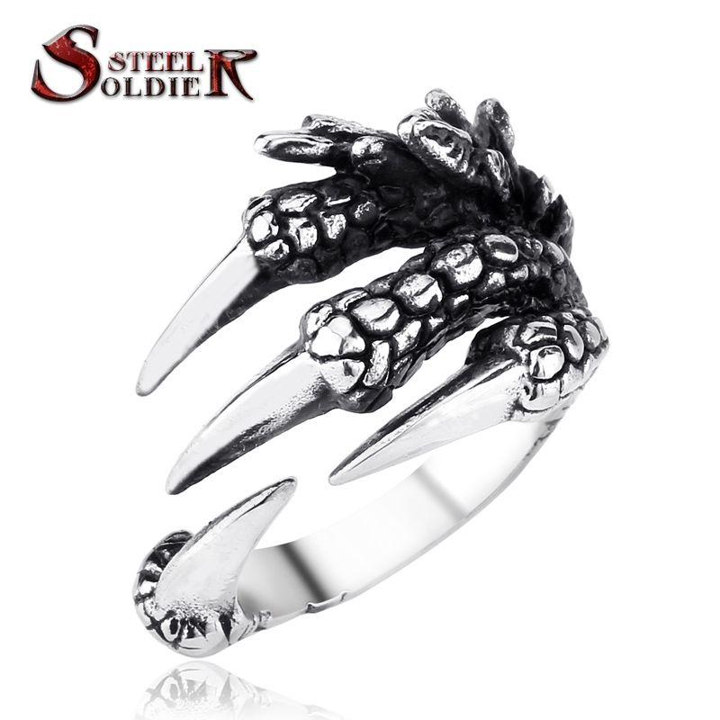 De acero soldado punky de acero inoxidable Motor Biker Skull Ring para el Muchacho de los hombres del Hombre de la Alta Calidad de La Joyería BR8-170