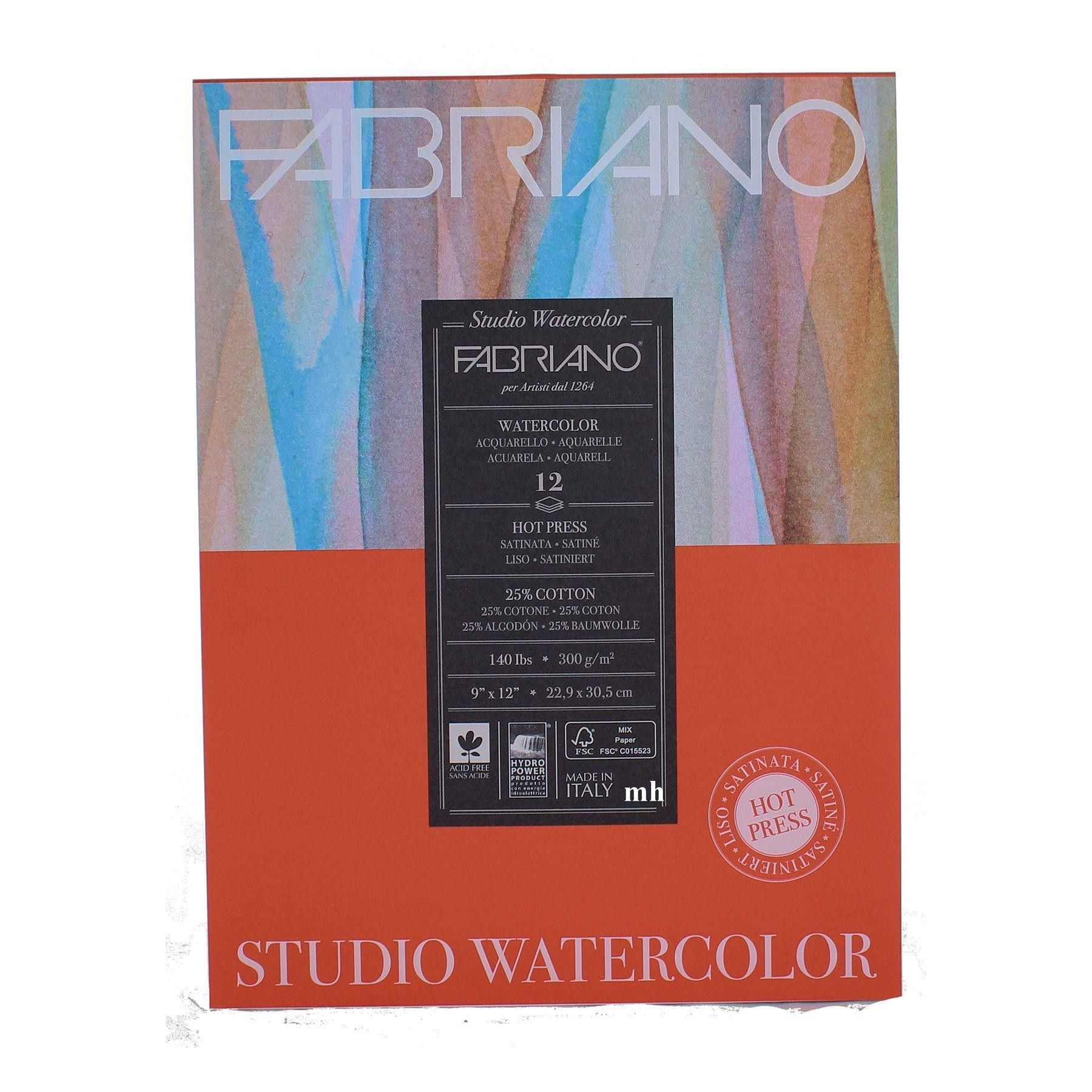 Fabriano Studio Watercolour Pad Watercolor Paper Comic Book