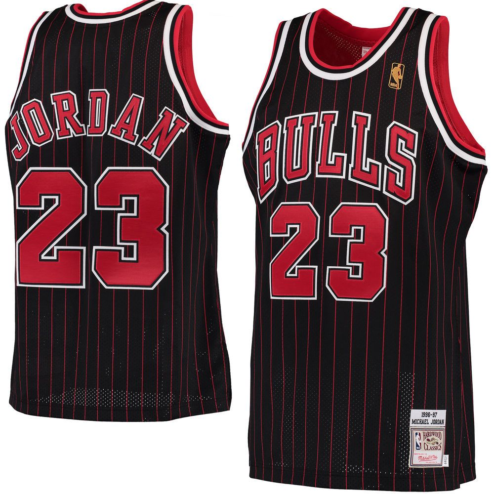 new style 2e4c4 4c878 Men's Chicago Bulls Michael Jordan Mitchell & Ness Black ...