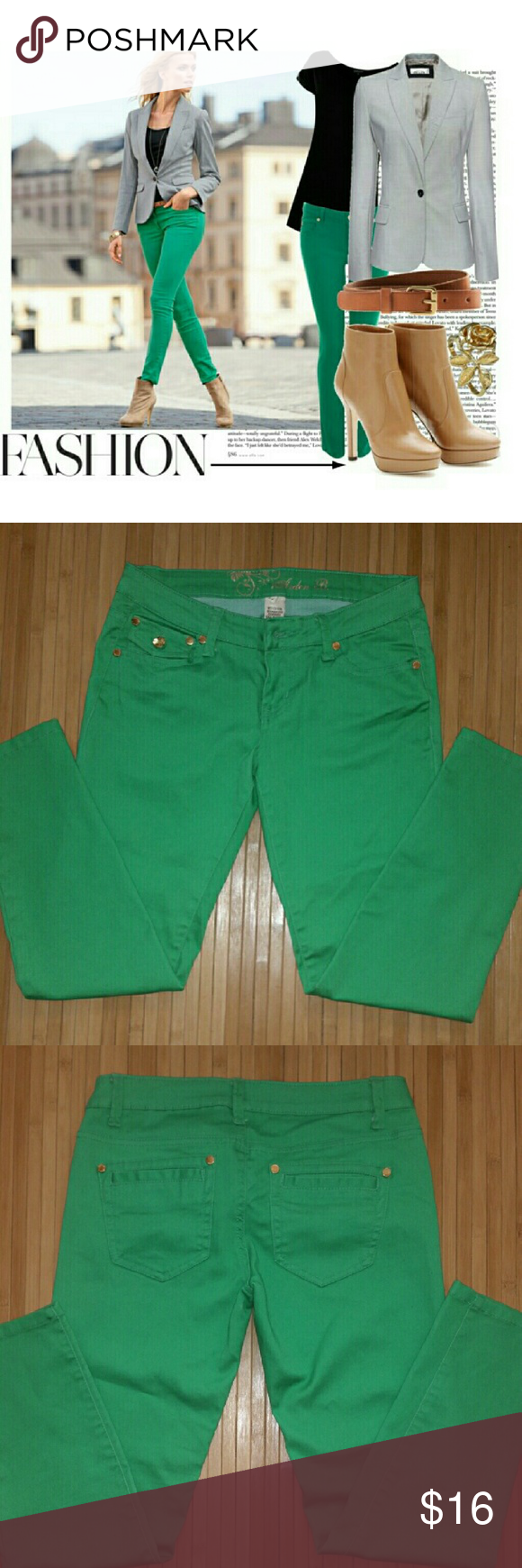 Go Green! Arden B Cropped Ankle Jeans. Pre-owned but well cared for. A definite wardrobe staple. Arden B Pants Ankle & Cropped