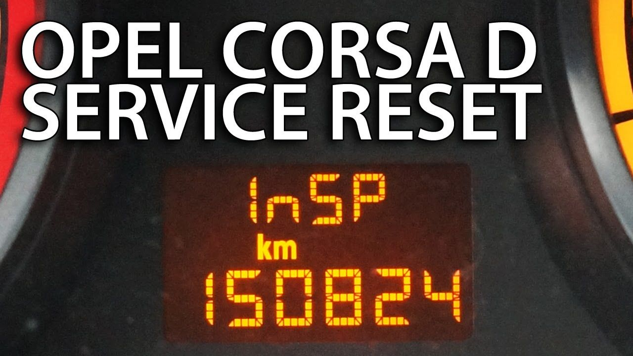 How to reset service inspection #Opel #Corsa D (InSP #Vauxhall