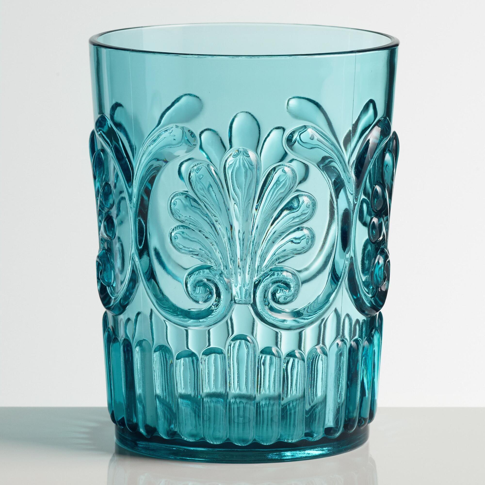 Aqua Pacific Acrylic Tumbler Glasses Set of 2: Blue by World ...