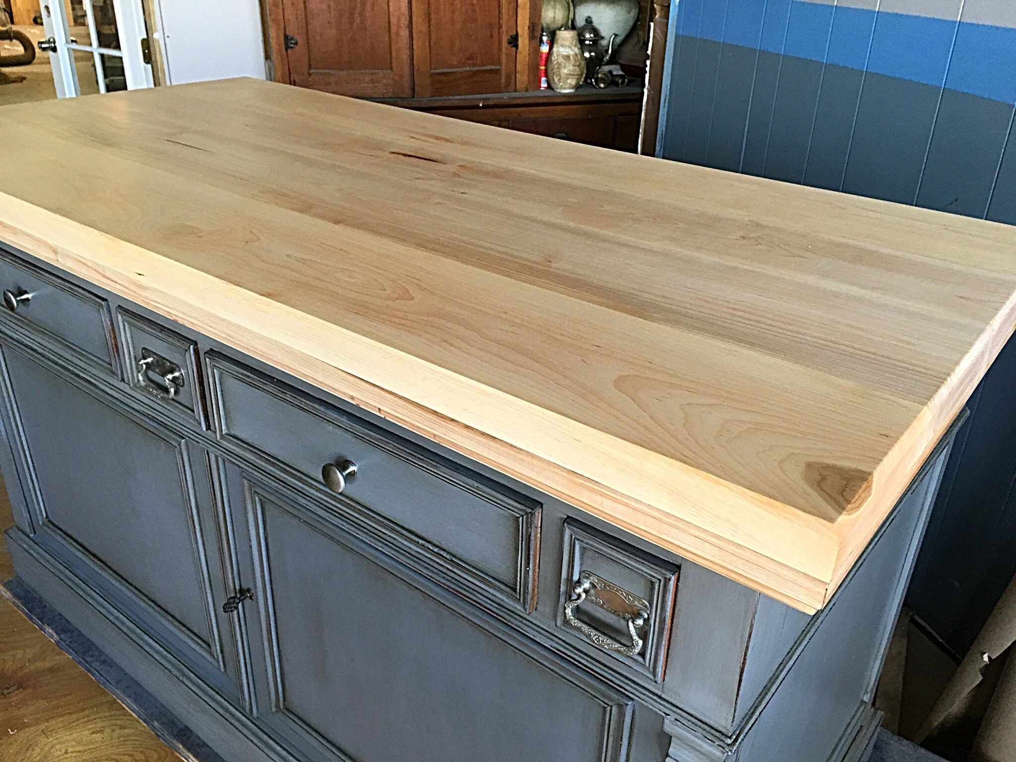New Maple Top Built For Vintage Kitchen Island By Refined David In Orlando Fl
