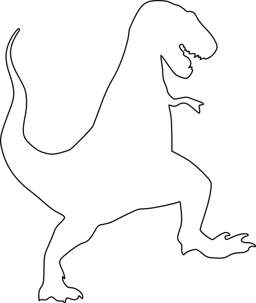 Trex Silhouette Clip Art at Clker