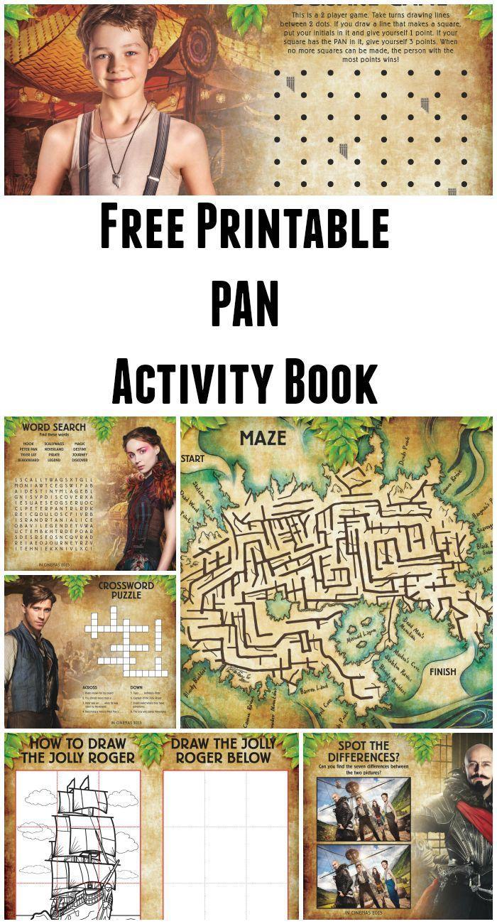 Free Printable Pan Activity Book Peter pan crafts, Book