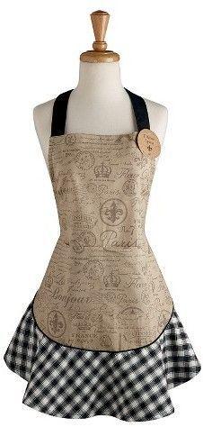 Fleur De Lis Apron - Design Imports, Black   Apron designs and Apron