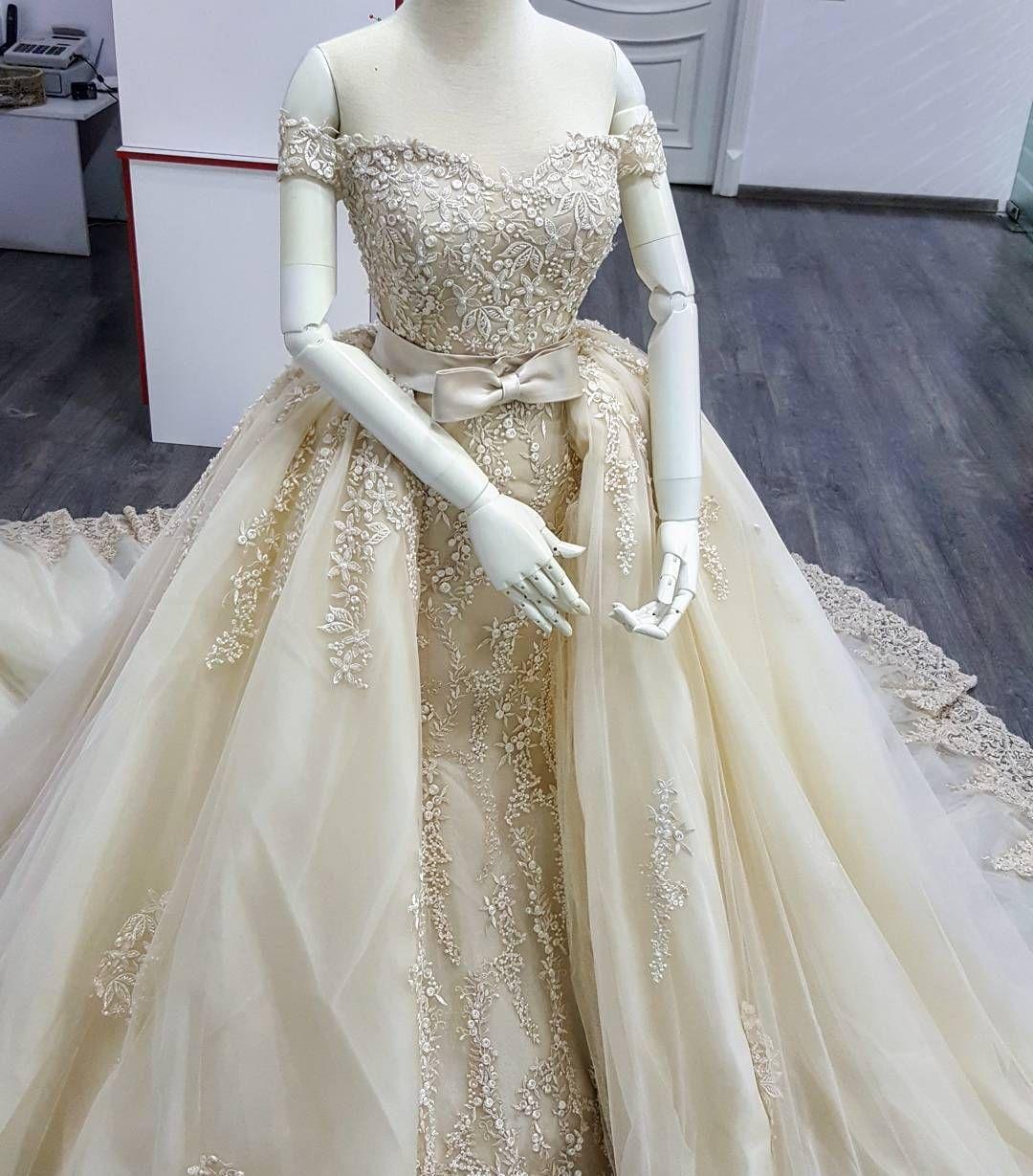 Vestido De Novia Wedding Dress,,Embroidery Lace Detachable