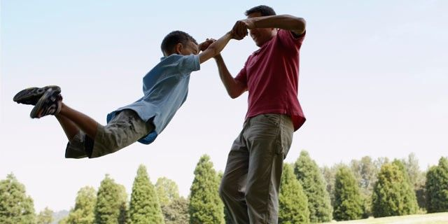Why roughhousing with dad is crucial for development--this is a great article to share with parents near father's day!