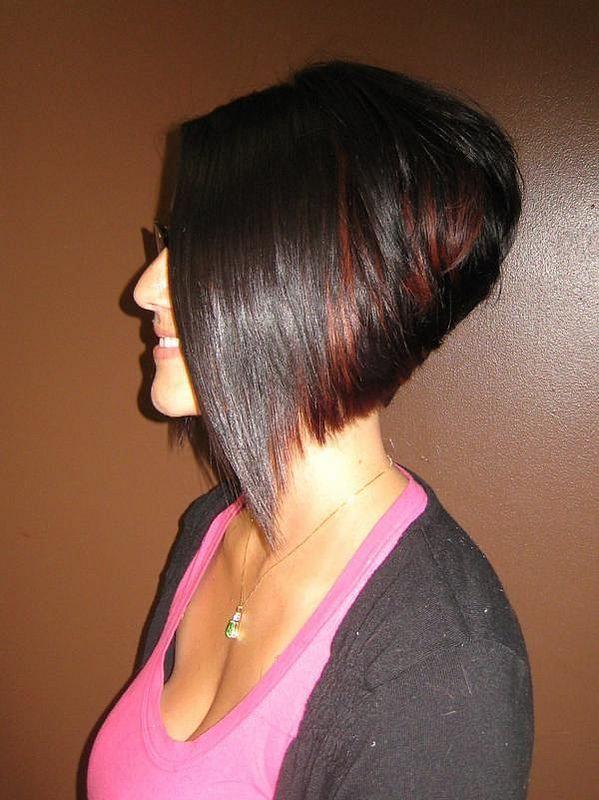 Inverted Stacked Bob Haircut Short Hair Cuts